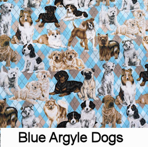Dogs Blue Argyle