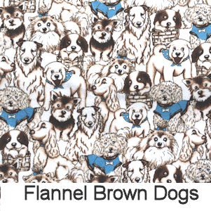 Flannel Brown Dogs