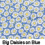 Big Daisies on Blue