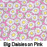 Big Daisies on Pink