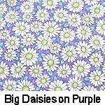 Big Daisies on Purple