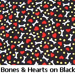 Bones & Hearts on Black