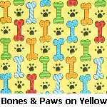 Bones & Paws on Yellow