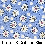 daisies on blue background