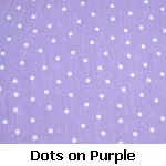 white dots on purple