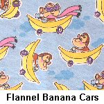 Flannel Banana Cars