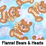 Flannel Bears & Hearts