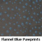 Flannel Blue Pawprints on Black