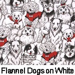 Flannel Dogs on White