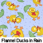 Flannel Ducks in Rain