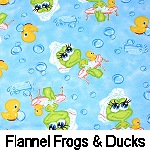 Flannel Frogs & Ducks