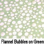 Flannel Bubbles on Green