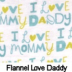 Flannel I Love Dad/I Love Mom