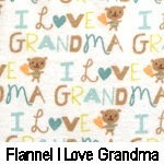 Flannel I Love Grandma