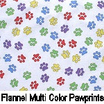 Flannel Multi Color Pawprints