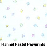 Flannel Pastel Pawprints