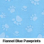 Flannel Blue Pawprints