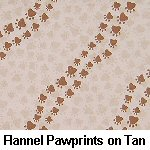 Flannel Pawprints on Tan