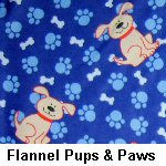 Flannel Pups and Paws