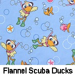 Flannel Scuba Ducks