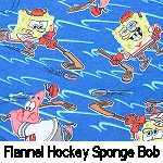 Flannel Sponge Bob Hockey