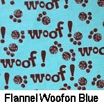 Flannel Woof on Blue