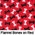 Flannel Bones on Red