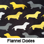 Flannel Doxies on Black