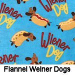 Flannel Weiner Dogs