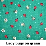 ladybugs on green background