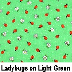 Ladybugs on Light Green