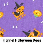 Flannel Halloween Dogs