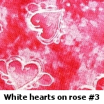 hearts on rosy red background