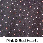 Pink & Red Hearts on Black