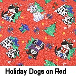 Holiday Dogs on Red