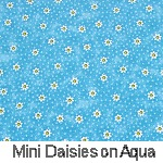 Mini Daisies on Aqua
