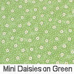 Mini Daisies on Green
