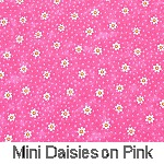 Mini Daisies on Pink