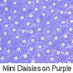 Mini Daisies on Purple