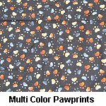 Multi Color Pawprints