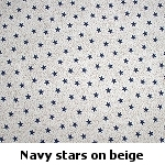 navy stars on beige