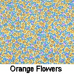 orange flowers on blue