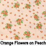 Orange Flowers on Peach