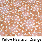 Yellow Hearts on Orange