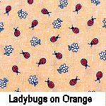 Ladybugs on Orange