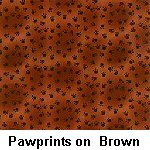 Pawprints on Brown