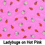 Lady bugs on Hot Pink