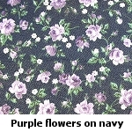 purple flowers on navy background