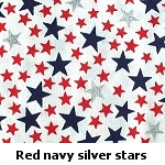 red, blue & silver stars