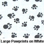 Large Pawprints on White